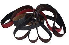 """1"""" x 30"""" Knife Making Sharpening Hogging 7 Belt Pack 80 150 240 320 400 600 1000"""