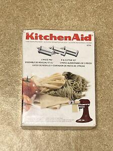 KitchenAid KPRA Pasta Roller & Cutter Set Stand Mixer Attachments Open Box Read