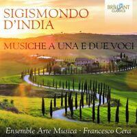 FRANCESCO ENSEMBLE ARTE MUSICA/CERA - MUSICHE A UNA E DUE VOCE   CD NEW