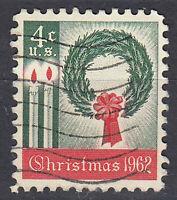USA Briefmarke gestempelt 4c Christmas 1962 Weihnachtsmarke / 1158