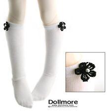 Dollmore 1/4 BJD MSD - Flower Knee Stockings (White)