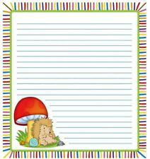 Carson Dellosa Notepad, Happy Hedgehogs