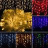 LED Stalactite Neige Pendant Rideau Guirlande Lumineuse Lumière de Fée Fête Noël