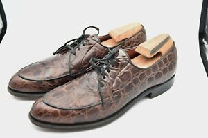 Vintage Nunn Bush Alligator Crocodile Brown Shoes MEN'S SZ 10.5 A US 9.5