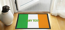 "24"" X 16 "" PERSONALISED IRISH FLAG DESIGN ENTRANCE DOOR MAT NON SLIP ADVERTISING"