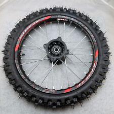 Front 14inch Pit Bike wheels GuangLi 60/100-14 Tyre Alloy Rims & 32 holes spoke