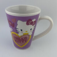 Sanrio Hello Kitty Yellow Heart  Purple coffee mug  Tea Cup