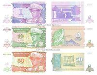 Zaire 1 + 10 + 50 Makuta / Zaires 1993 Set of 3 Banknotes 3 PCS UNC