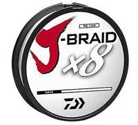 Daiwa J-Braid X8 Braided Fishing Line - 330 Yards (300 M) White Line