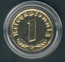 WWII 1 Coin(gilded) One Reichspfennig 1939 E. Jaeger 361, AKS 58