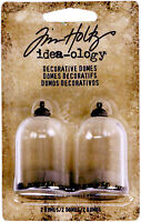 SSS Tim Holtz Idea-ology DECORATIVE DOMES 2 PK Vintage Glass Cloche Charm
