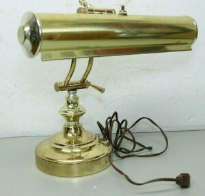 Vintage Underwriters Laboratories Brass Bankers Piano Desk Lamp Adjustable