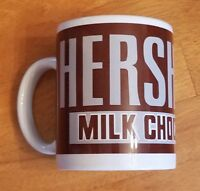 Hersheys Milk Chocolate Coffee Mug Tea Cup Brown White Billco Hot Handle Warm