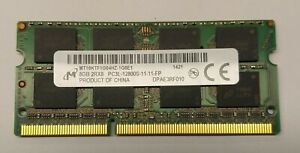 1 x 8GB Micron DDR3 PC3L-12800S SODIMM Laptop Memory RAM tested MT16KFT1G64HZ