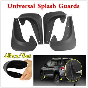 Universal 4Pcs Black EVA Plastic Car Mud Flaps Splash Guard Fender Mudguards