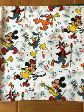 """Musical Disney Characters Fabric Remnant 23""""Wx24""""L or 58cm x 61cm Minnie Pluto++"""