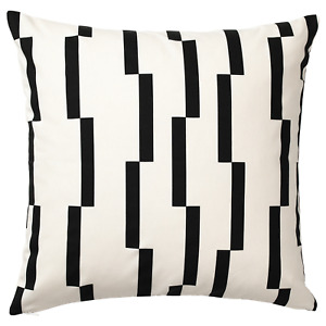 "New Ikea KINNEN Pillow Cushion Cover 20""x20"" White / Black"