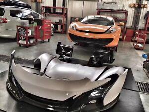 For McLaren MP4 UPGRADE 650S Style Front Bumper HOOD REAR BUMPER FENDER BODY KIT