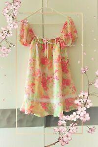 Kleid dress Liz Lisa S36 M38 L40 XL42 floral Blume bunt Japan Gyaru Girly kawaii