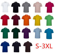 Mens Mans Plain Cotton Pique Stand Collar Golf Sports Shirt No Logo T-shirt OL