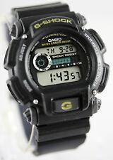 Casio DW-9052-1B Mens G-Shock Chronograph Watch 200M WR Resin Black Sports New