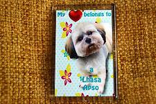 Lhasa Apso Gift Dog Fridge Magnet 77 x 51 mm Free UK Post  Xmas stocking filler