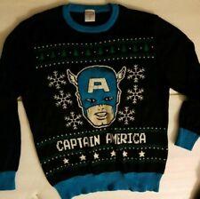 NWOT Marvel.Comics Captain America Festive Ugly Christmas Sweater Men's size L