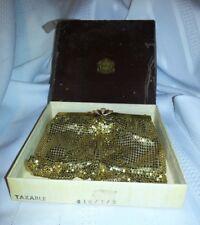 ART DECO Evans Elegance gold mesh purse vintage in original box hand stitched