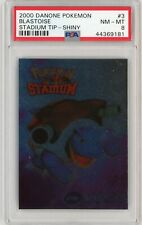 PSA 8 NM/Mint Blastoise #3 Danone STADIUM TIP - SHINY Holo Pokemon Card