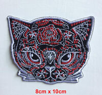 Butterfly with Skull Black Embroidered Iron Sew on Patch #1796B