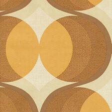 1960s 1970s Original Brown MOON MINIMALIST GEOMETRIC Vintage Original  Wallpaper