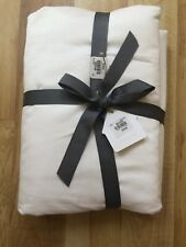 NEW POTTERY BARN FOUNDATIONS 700 Thread DUVET COVER FULL/QUEEN   $199 White