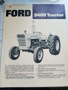Ford 3400 Tractor Brochure