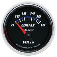 Auto Meter Cobalt 52mm 8-18 Volts Short Sweep Electric Voltmeter Gauge