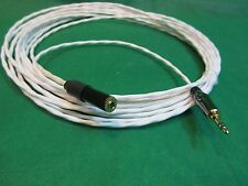 """25 Ft SILVER PLATED 3.55 MM 1/8"""" AUDIOPHILE HEADPHONE EXTENSION CABLE."""