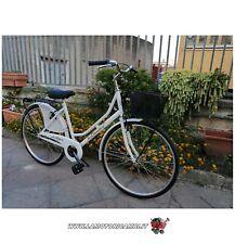 "Bici bicicletta 26"" Olanda da passeggio Bianca"