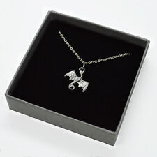 925 Sterling Silver DRAGON PENDANT 15mm (Box/ Chain options)