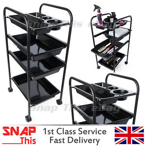 Salon Hairdressing Trolley Cart Beauty Storage Hair Drawers Colouring Rack Spa