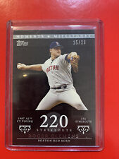 2007 Topps Moments And Milestones Black Roger Clemens 220 Strikeouts #20 15/29