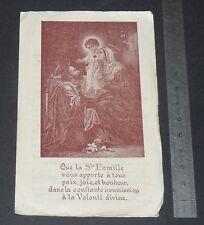 CHROMO 1920-1930 IMAGE PIEUSE HOLY CARD SOCIETE PRETRES SACRE-COEUR