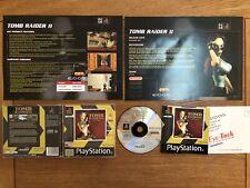 Tomb Raider 2 Lara Croft Playstation 1 ps1 pal version + Original Product Sheet
