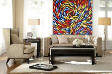 """28"""" Canvas Print original art painting Dreaming Fish abstract aboriginal"""