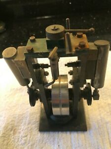 Vertical twin cylinder live steam engine / motor possibly Stuart Turner