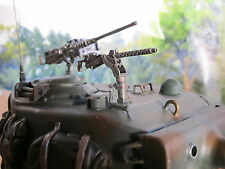 WWII Sherman Fury Turm MG Cal 30mm RC Panzer Tank US Army Metal Kit Zubehör 1/16