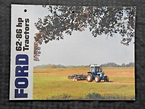 GENUINE 1984 FORD 5610 6610 6710 7610 7710 TRACTOR BROCHURE CATALOG CLEAN