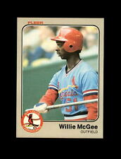 1983 Fleer Baseball #15 Willie McGee RC (Cardinals) NM-MT
