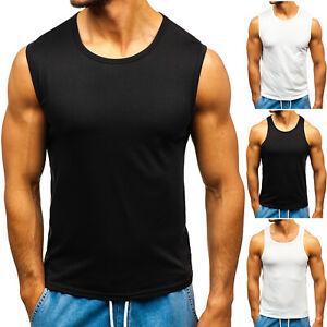 Tanktop Tee T-Shirt Achselshirt Muskelshirt Basic Men Herren Mix BOLF Unifarben
