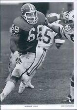 1977 Press Photo NFL Football Rubin Carter Denver Broncos