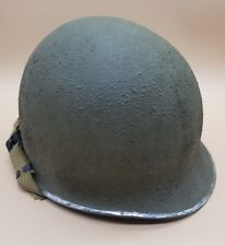 WW2 US American Fixed Bales Front Seam M1 Army Infantry Helmet MUST SEE