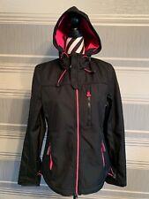 Ladies/Girls Superdry Windtrekker Black/pink Jacket Size Medium 12 1